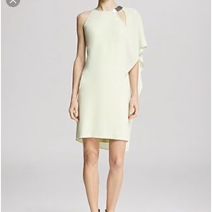 Halston Heritage Asymmetric Drape Sleeve Dress